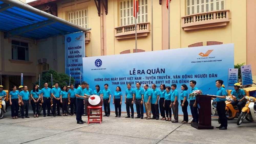 Lễ ra quân, hưởng ứng, ngày BHYT Việt Nam, Bưu điện Việt Nam, BHXH tự nguyện, BHYT hộ gia đình, khám chữa bệnh, cơ sở y tế