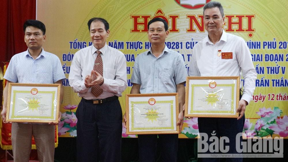 Hội Khuyến học thị trấn Thắng đón nhận Cờ thi đua xuất sắc của Hội Khuyến học Việt Nam