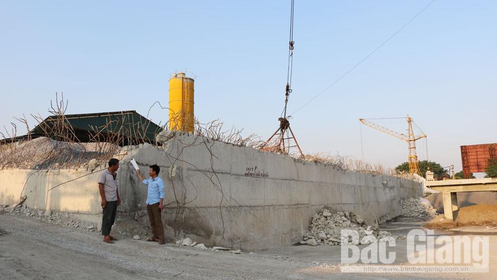 sai phạm, xây dựng, Việt yên, Quang Châu, bê tông