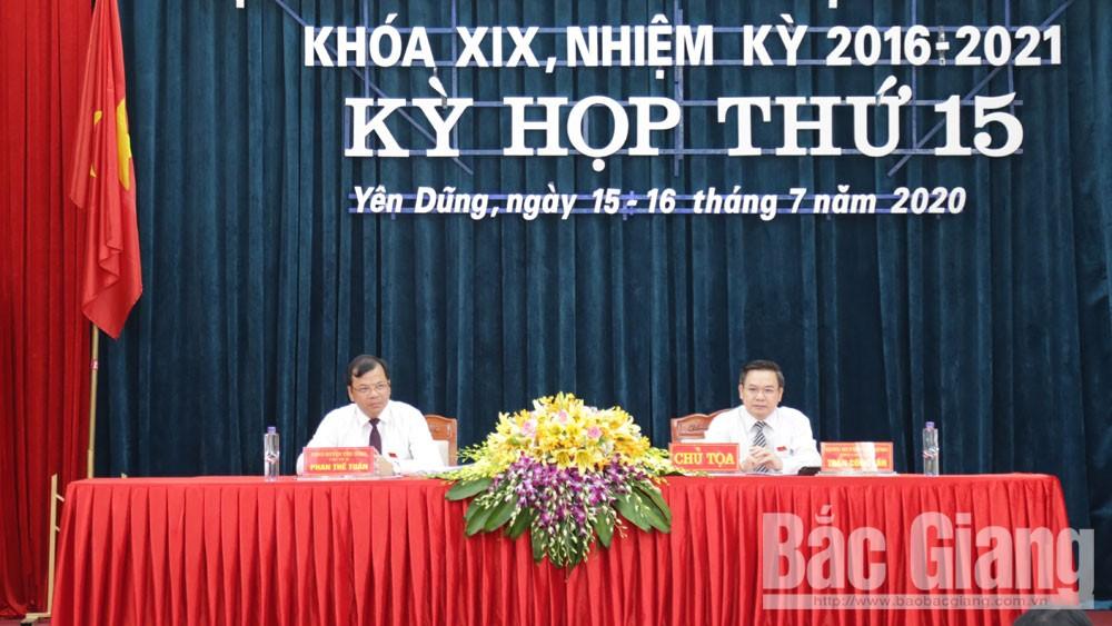 HĐND huyện Yên Dũng (Bắc Giang): Thông qua 5 nghị quyết tại kỳ họp thứ 15