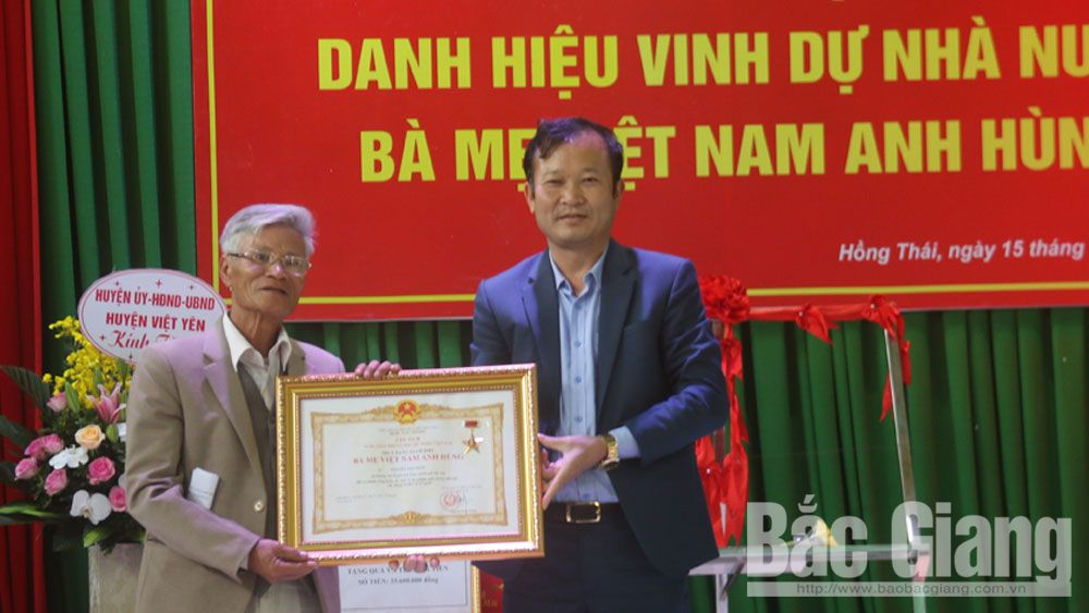 "Four Bac Giang's women awarded ""Vietnamese Heroic Mother"" title"