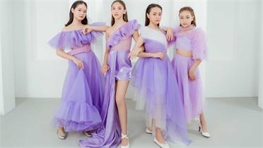 Thảo Nguyễn lăng xê đầm dạ hội tím cho trẻ em