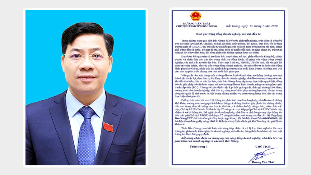 Video: Thư của Chủ tịch UBND tỉnh Bắc Giang Dương Văn Thái gửi cộng đồng doanh nghiệp, các nhà đầu tư