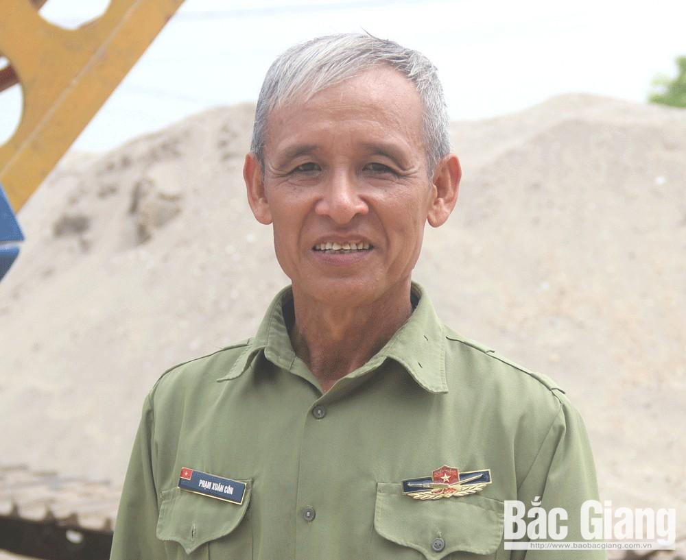 Phạm Xuân Côn, Bắc Giang, thương  binh, bệnh binh