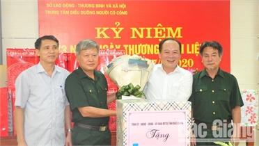 Chủ tịch Ủy ban MTTQ tỉnh Bắc Giang Trần Công Thắng thăm, tặng quà thương binh, bệnh binh