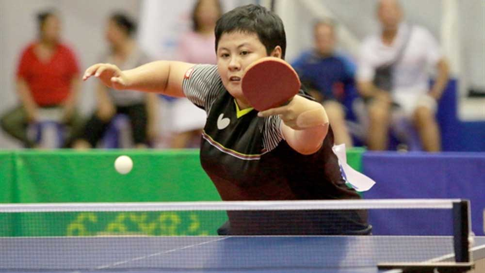 Mai Hoang My Trang, national table tennis champs, women's singles title, national tournament, key role, men's team category