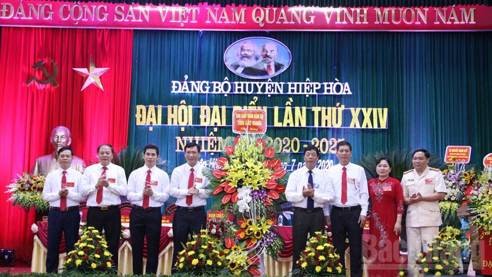 Khai mạc Đại hội Đảng bộ huyện Hiệp Hòa lần thứ XXIV: Phấn đấu đạt tiêu chí đô thị loại IV vào năm 2025