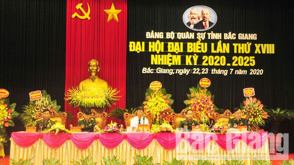 Đại hội, quân sự, Đảng bộ Quân sự tỉnh, Bắc Giang.