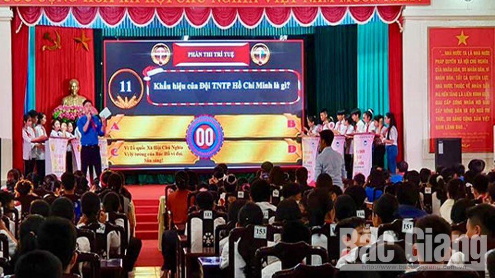 """Tổ chức sân chơi """"Tài - trí đội viên"""" huyện Yên Thế năm 2020"""