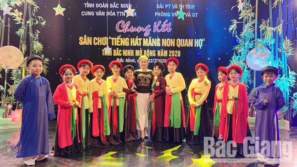 """Việt Yên: Giành 2 giải """"Tiếng hát măng non quan họ"""" tỉnh Bắc Ninh mở rộng năm 2020"""