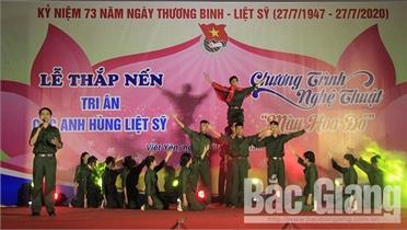 Tỉnh đoàn Bắc Giang tổ chức lễ thắp nến tri ân anh hùng liệt sĩ tại xã Hương Mai (Việt Yên)