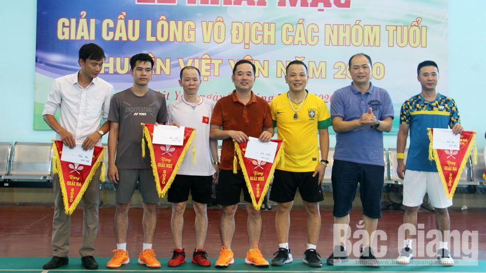 Giải Cầu lông vô địch các nhóm tuổi huyện Việt Yên năm 2020