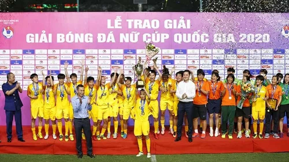 HCM City, beat Vinacomin, Women's National Football Cup, strong lineup, experienced players, best goalkeeper