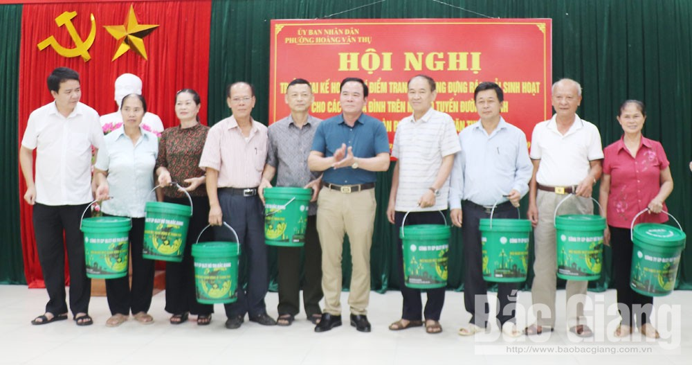 TP Bắc Giang, thùng rác sinh hoạt, Công ty cổ phần Quản lý công trình đô thị Bắc Giang