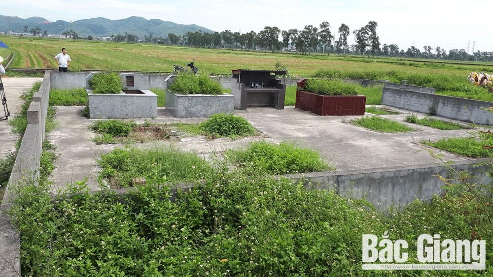 đất đai, tranh chấp đất, Bắc Giang, vi phạm đất đai, thị trấn Nham Biền, nghĩa trang