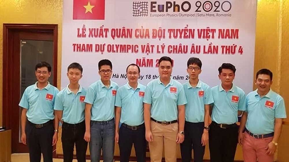 Vietnam, gold medal, 2020 European Physics Olympiad, Nguyen Manh Quan, eleventh grader, Amsterdam High School, Vietnamese students