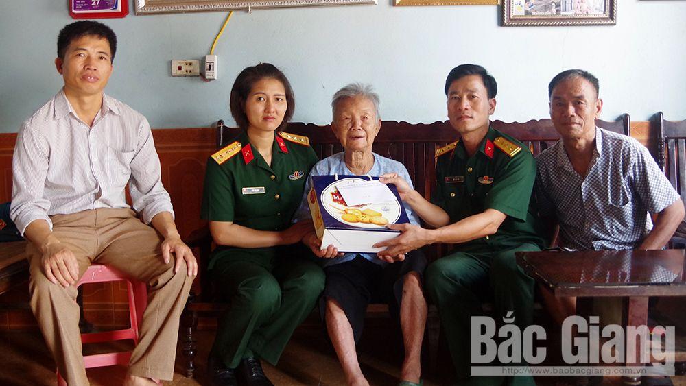 Lực lượng vũ trang, Bắc Giang, tri ân, người có công với cách mạng