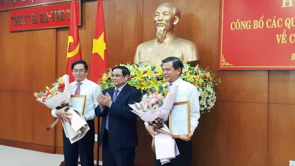 Đồng chí Phạm Viết Thanh, Bí thư Tỉnh ủy Bà Rịa - Vũng Tàu,  đồng chí Nguyễn Hồng Lĩnh,