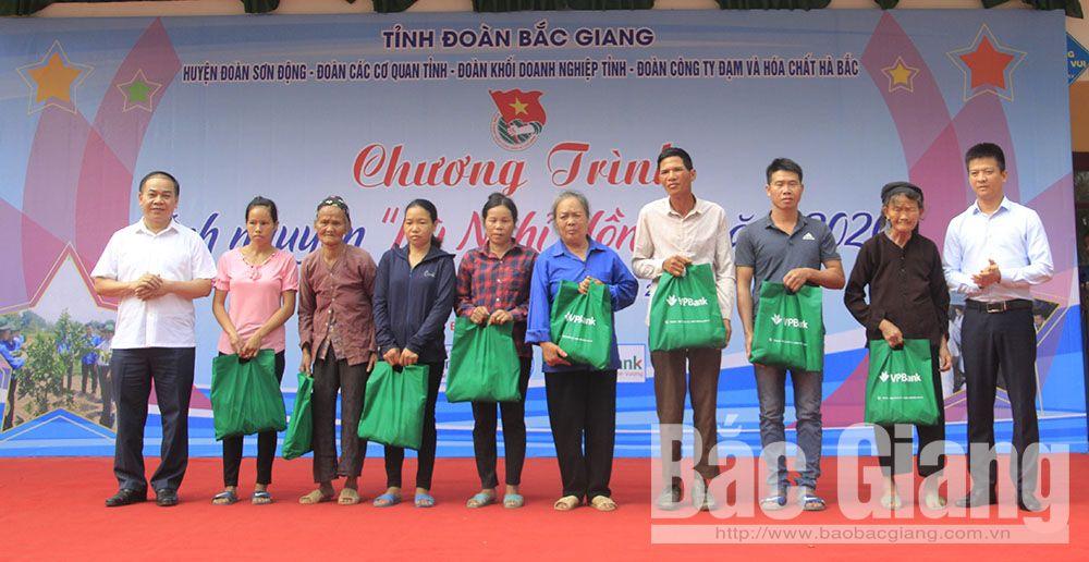 Bắc Giang, Kỳ nghỉ hồng, đoàn viên thanh niên, Sơn động