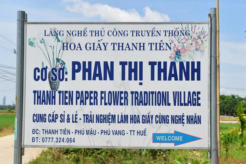 Thanh Tien, paper flower making village, 300-year history, attractive traditional craft villages,  ancient imperial city