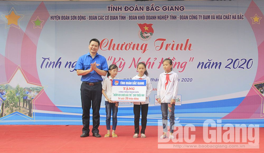 Pink vacation, voluntary campaign, young officers, public servants, Bac Giang province, major voluntary youth programmes, voluntary activity