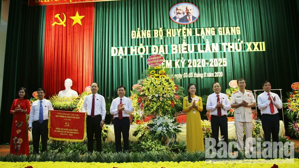 Bắc giang; Lạng Giang;  Đại hội Đảng bộ; 2020-2025Đại hội đại biểu Đảng bộ huyện Lạng Giang (Bắc Giang):