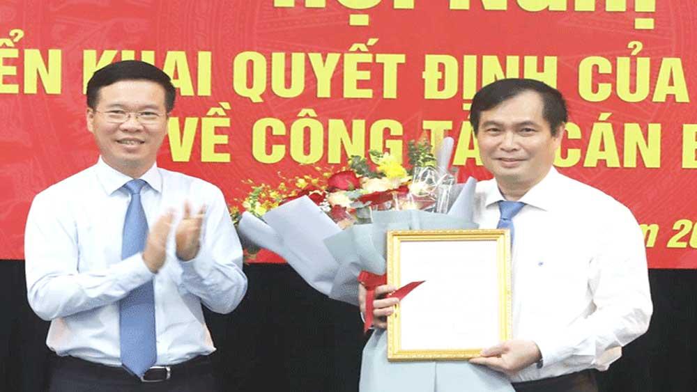 Công bố, quyết định, bổ nhiệm, ông Phan Xuân Thủy, giữ chứ,c Phó Trưởng ban Tuyên giáo Trung ương