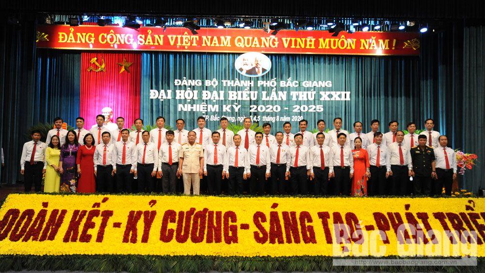 Bế mạc Đại hội Đảng bộ TP Bắc Giang khóa XXII: Đồng chí Mai Sơn tiếp tục được bầu giữ chức Bí thư Thành ủy
