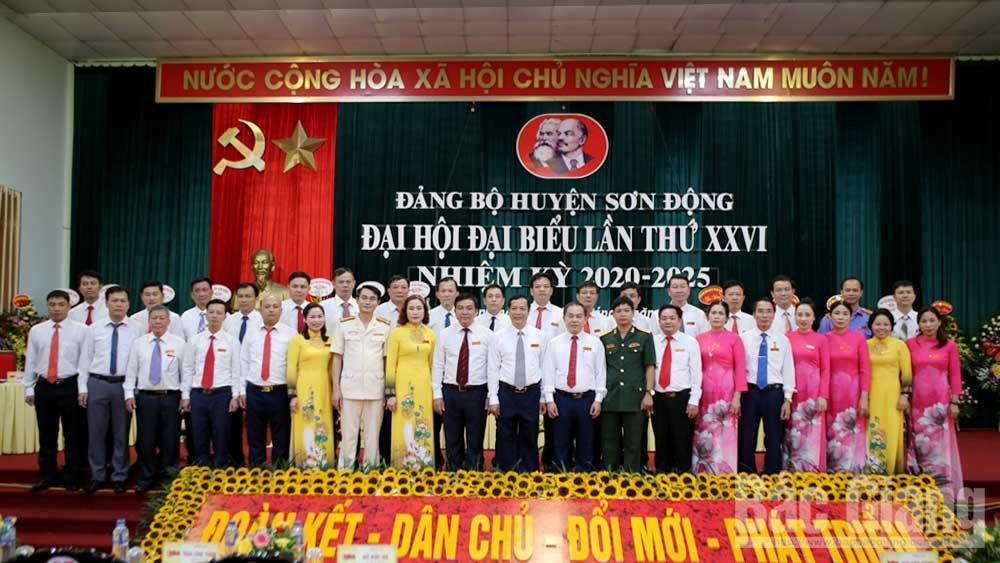 Đồng chí, Nghiêm Xuân Hưởng, tiếp tục, được bầu, giữ chức, Bí thư, Huyện ủy, Sơn Động, khóa XXVI, nhiệm kỳ, 2020-2025