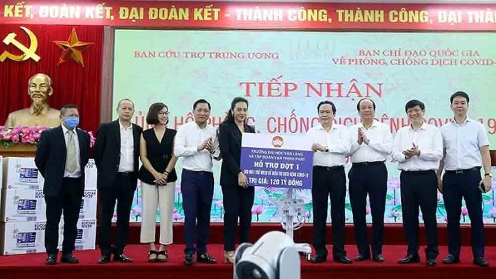 Ventilators, VND120 billion, Covid-19 pandemic, Vietnam Fatherland Front, MV20 ventilators, financial support, hi-tech medical equipment
