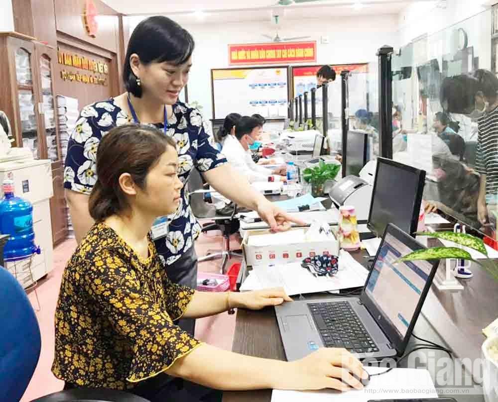 Thân Thị Hường, chuyên viên, Phòng Nội vụ, Việt Yên, Bắc Giang, cải cách hành chính