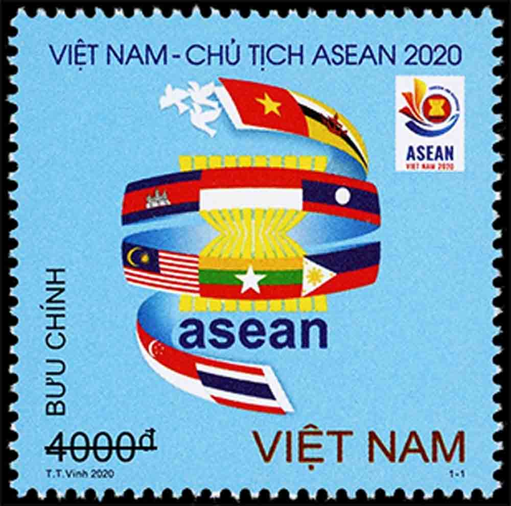 Special stamp, Vietnam, 2020 ASEAN Chairmanship, propaganda activities, prosperous and peaceful Asean, public postal network, National Costume