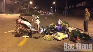 Bắc Giang: Tai nạn giao thông, hai người bị thương
