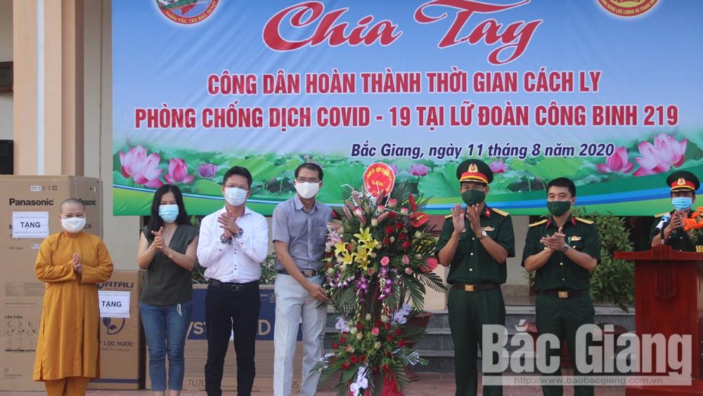 Bắc Giang, Lữ đoàn Công binh 219, Quân đoàn 2, phòng chống dịch Covid-19, cách ly y tế