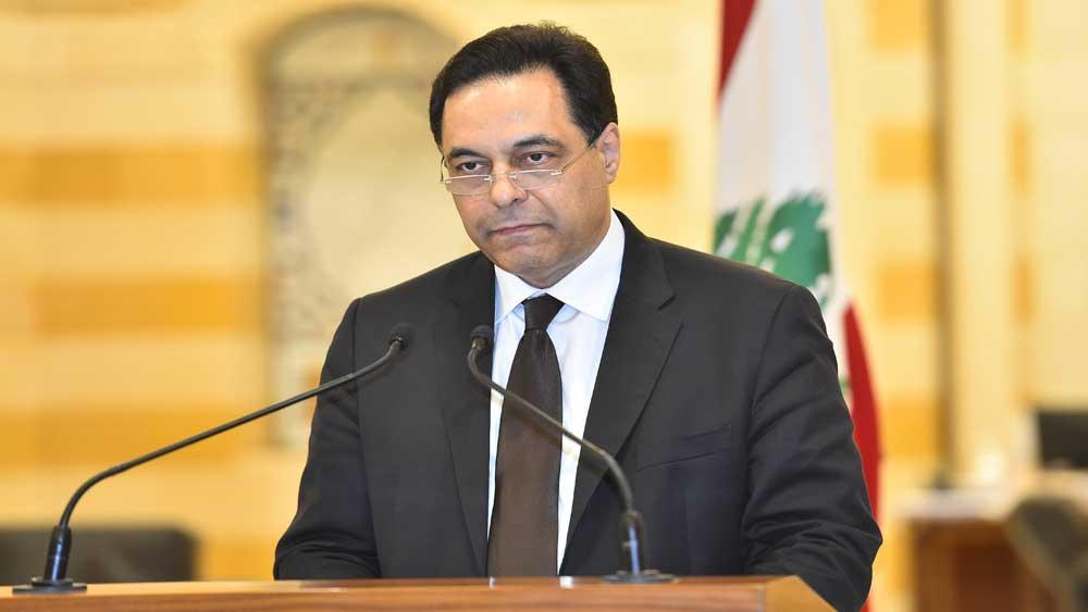 Thủ tướng Liban, thông báo, Chính phủ từ chức