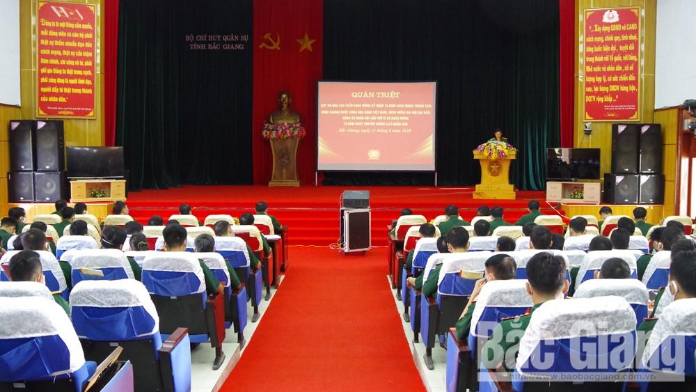 Bộ CHQS tỉnh, Bắc Giang, thi đua cao điểm, chào mừng, quốc khánh, quân khu