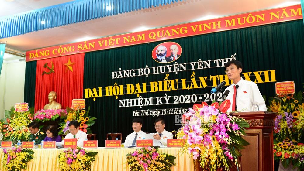 Khai mạc Đại hội Đảng bộ huyện Yên Thế, nhiệm kỳ 2020-2025: Nâng cao năng lực lãnh đạo của các cấp ủy, đưa huyện phát triển bền vững