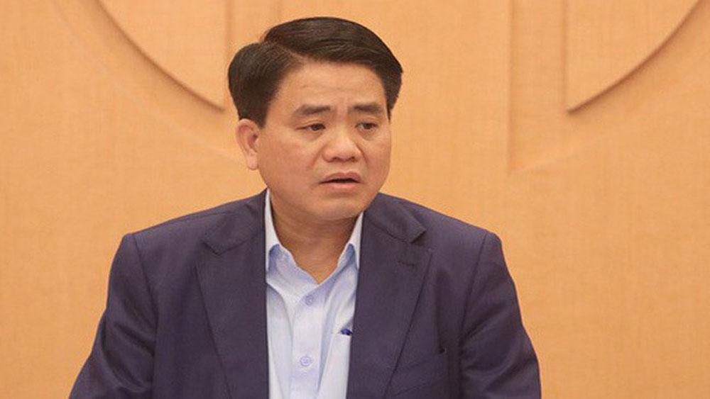 Tạm đình chỉ, công tác, Chủ tịch UBND thành phố Hà Nội, Nguyễn Đức Chung