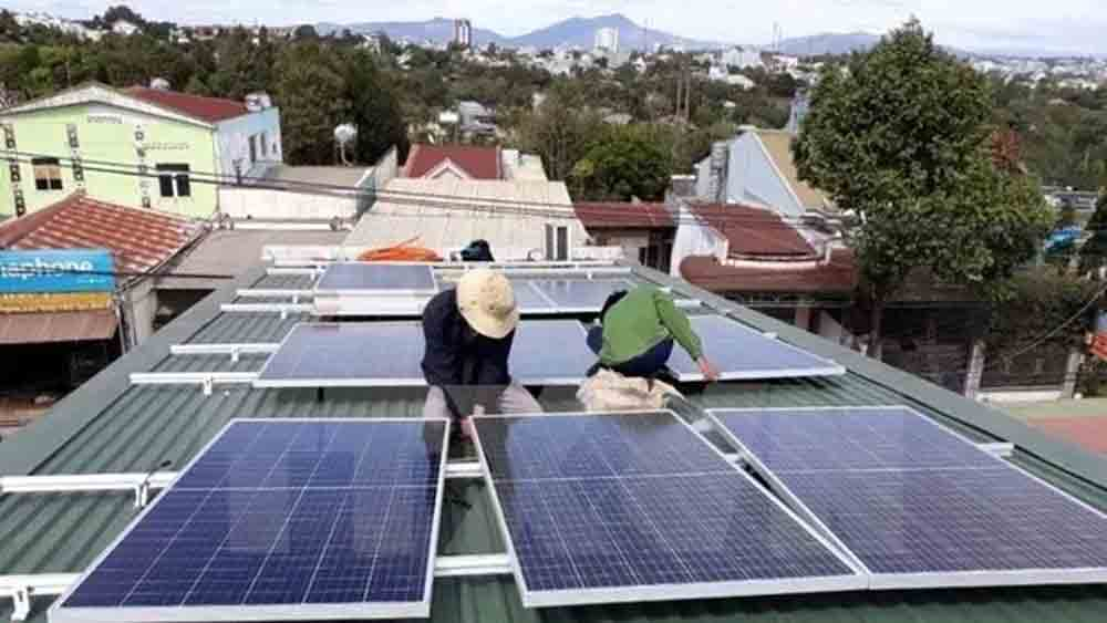 1,600 households, roof-top solar power system, July, combined capacity, total capacity,  connection agreements, suitable places