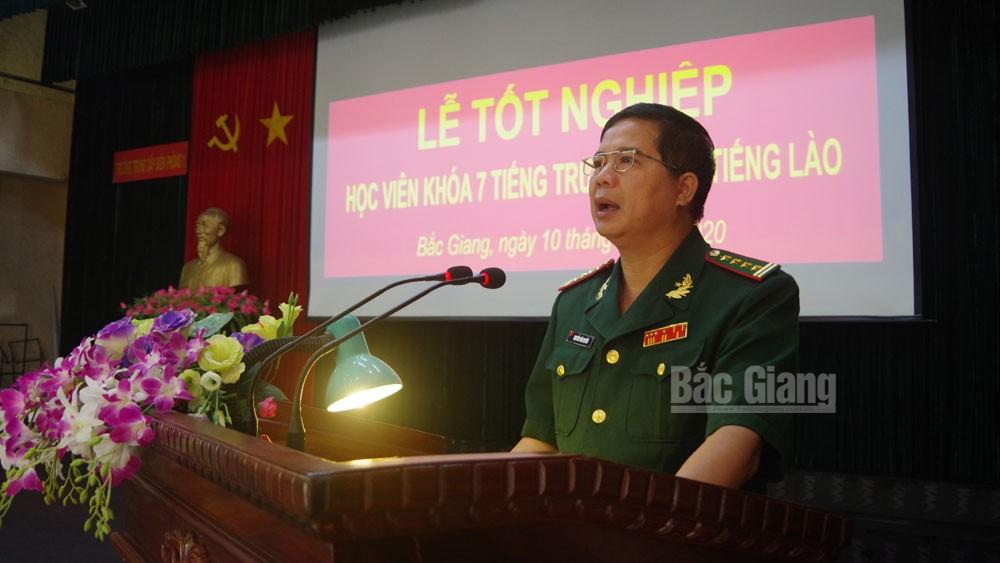 Trường Trung cấp Biên phòng 1, Tân Yên, Bắc Giang, tốt nghiệp khóa 7, tiếng Trung Quốc, tiếng Lào