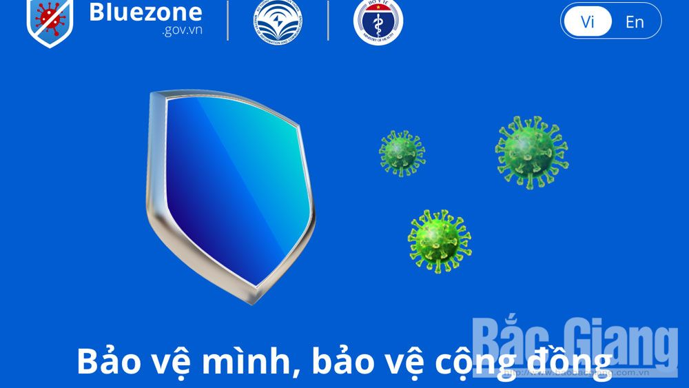 251,600 citizens, Bac Giang province, Bluezone app, Covid-19 prevention and control, Bluezone users, risk of infection