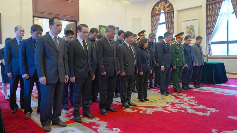 Đại sứ quán Việt Nam tại Trung Quốc, tổ chức trọng thể , Lễ viếng nguyên Tổng Bí thư Lê Khả Phiêu