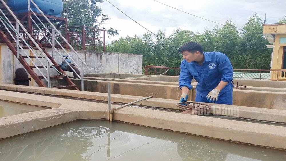 Bước đầu khắc phục tình trạng nước sinh hoạt không bảo đảm chất lượng tại thị trấn An Châu