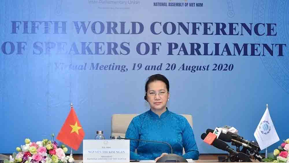 NA Chairwoman, Nguyen Thi Kim Ngan, fifth World Conference, Speakers of Parliament, leadership of parliaments, Inter-Parliamentary Union, United Nations, Austrian Parliament