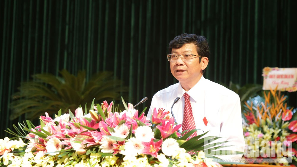 Đồng chí Thân Minh Quế tái cử chức vụ Bí thư Đảng ủy Các cơ quan tỉnh Bắc Giang