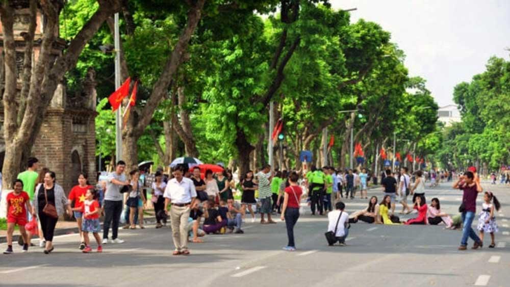 Từ ngày 21/8, dừng các hoạt động tại không gian đi bộ quận Hoàn Kiếm (Hà Nội)