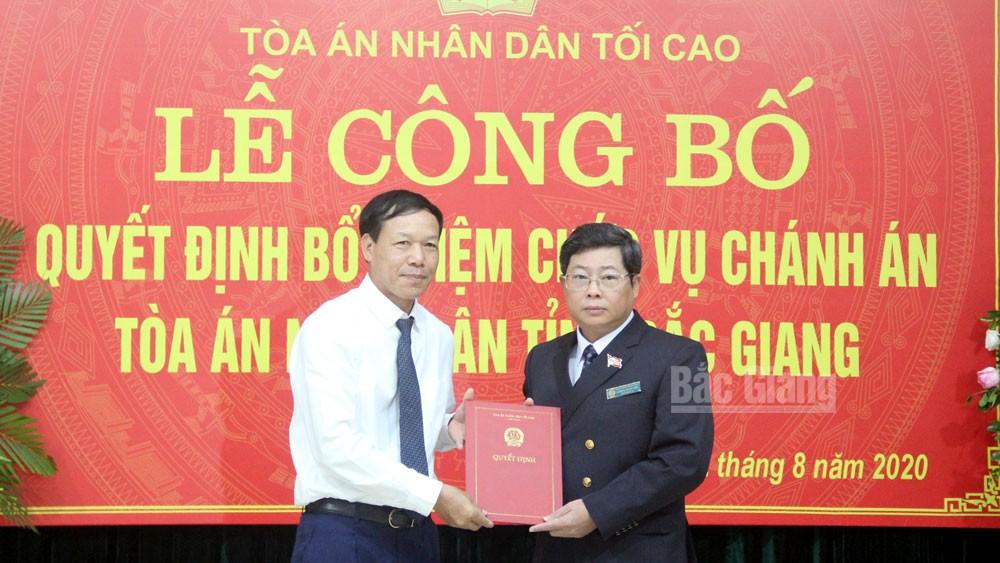Bắc Giang có tân Chánh án Tòa án nhân dân tỉnh