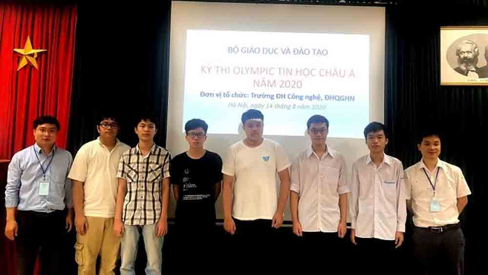 Vietnamese team, six medals, 13th Asia-Pacific Informatics Olympiad, gold medal, silver medal