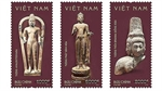 Stamps featuring ancient Oc Eo Culture issued