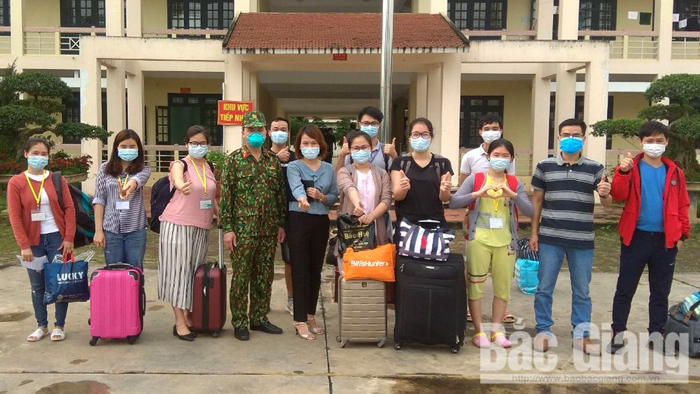 Bac Giang: 2,717 people complete medical quarantine for Covid-19 prevention
